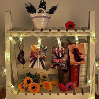 Guirnalda De Luces Led , 10 Clips ; Ideal P/fiestas Y Fotos
