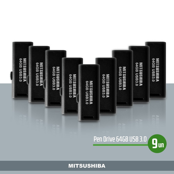 Kit Pen Drive 64gb(usb 3.0) 9pcs Mitsushiba