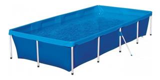 Pileta estructural azul MOR 001005 rectangular de 3.2m de largo x 1.64m de ancho