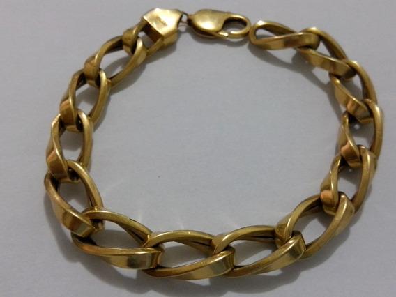 Pulseira Ouro 18k 750 Com 22 Gramas