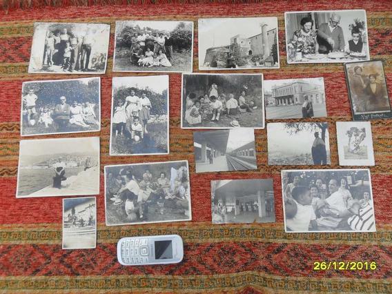 Lote D Antiguas Fotos Familia Italianas, Italia Mujeres