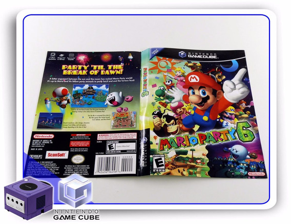 Gc Encarte Mario Party 6 Original Gamecube
