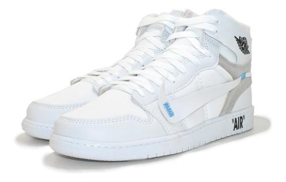 Tênis Bota Air Jordan Off White Original Cano Alto + Frete