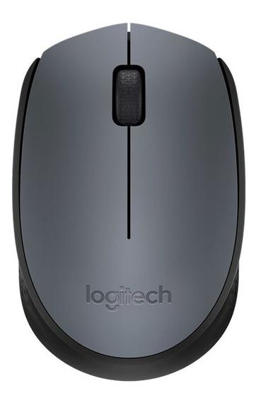 Mouse Óptico Sem Fio Nano Logitech M170 Prata E Cinza