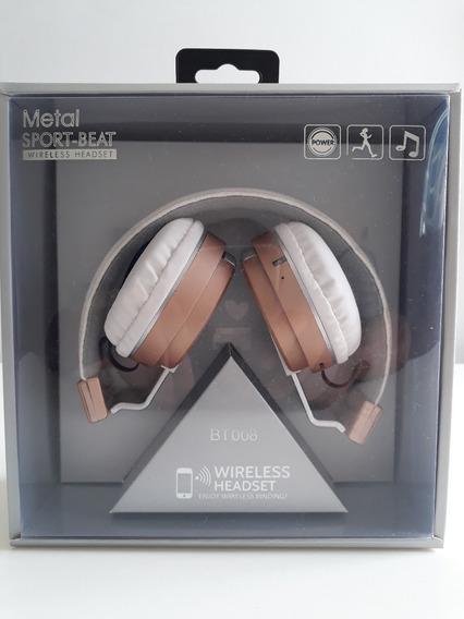Fone De Ouvido S/ Fio Bluetooth Academia Malhação Caminhada