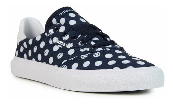 adidas Original Zapatilla Mujer Lifestyle 3mc Vulc Azul Fkr