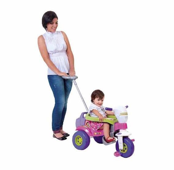 Motoca Triciclo Infantil Tico Bichos Azul Ou Rosa Magic 3512