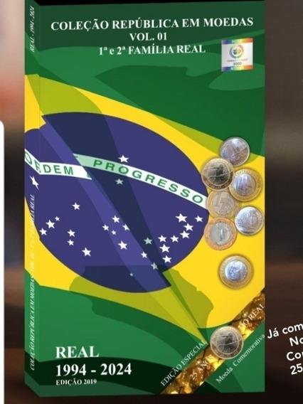 Álbum Para Moedas Do Real + Comemorativas 1994 À 2024 Novo