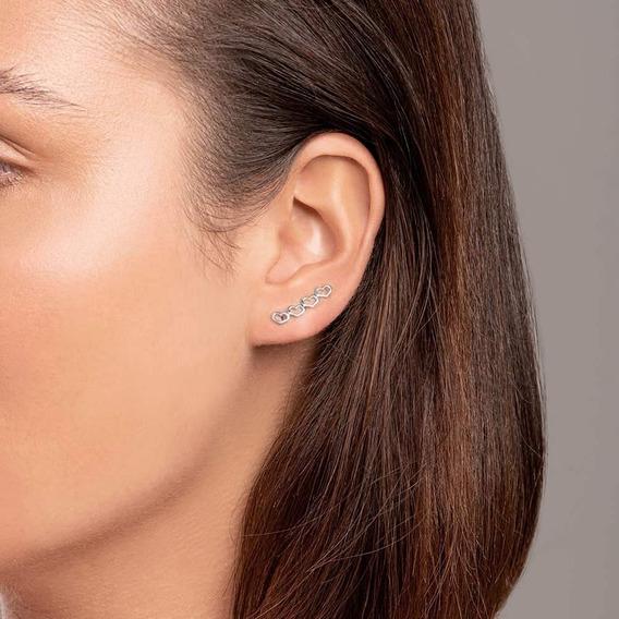 Brinco Banhado Ouro Ear Cuff Pequenos Corações Antialérgico