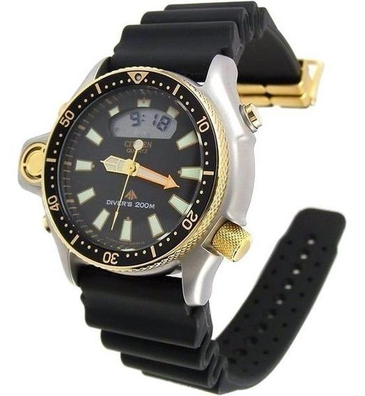 Relógio Citizen Aqualand Serie Ouro Tz10137p Garantia E Nota
