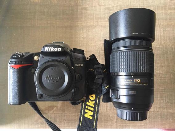 Câmera Nikon D7000 + Lente 55-300