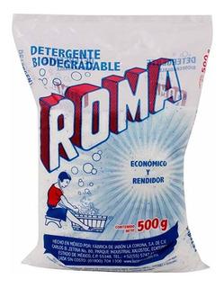 Jabón Detergente Biodegradable Roma En Polvo 500g