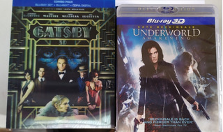 Blu Ray Oferta 3d Gatsby Underworld P Unitario