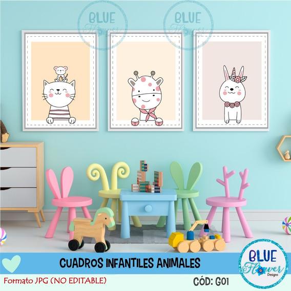 Laminas Para Cuadros Infantiles Nena Imprimible Jpg - G01