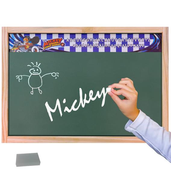 Lousa Verde Escolar Mickey Mouse Educativa