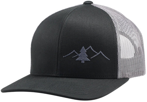 Lindo Trucker Hat - Colección Great Outdoors (negro / Gra