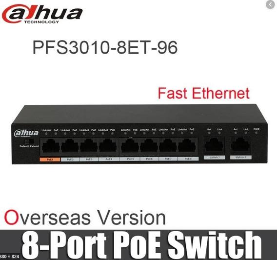 Dahua Switch 8 Puertos Poe Hi 60w 48v Mar Del Plata