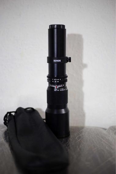 Lente Telefoto Zoom 500mm Bower