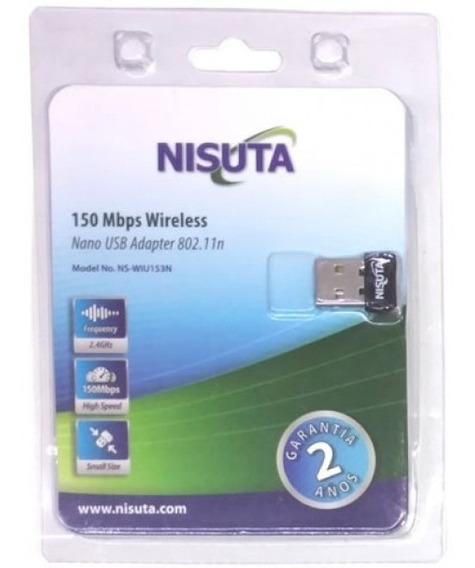 Adaptador Wifi Placa Usb Adaptador Nisuta Nano Mini 150 Mbps