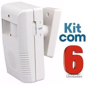 Sensor De Presença Sonoro Sem Fio Ds / Kit Com 06 Unidades