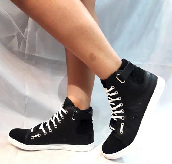 Zapatillas Sam123 Talles Grandes Mujer Zap Negra Oferta