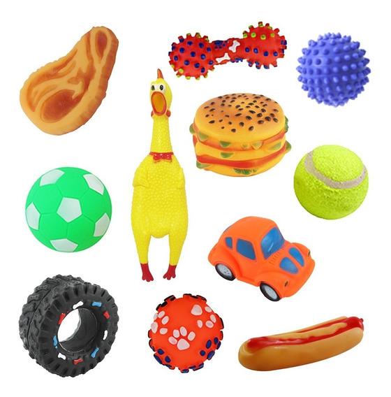 Kit 5 Mordedor Pet Brinquedos De Borracha Para Cães Cachorro