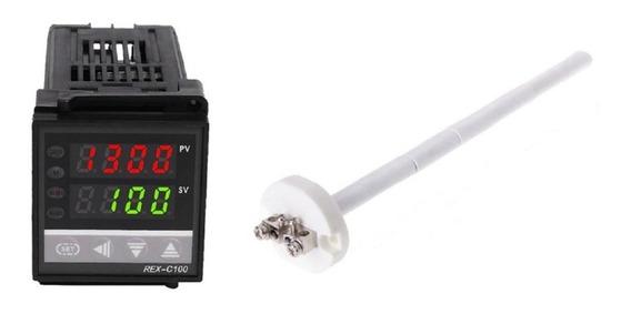 Controlador Temperatura Com Sensor K 1300°