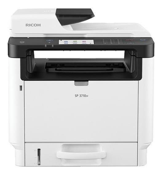 Impressora multifuncional Ricoh SP 3710SF com Wi-Fi 110V branca e cinza