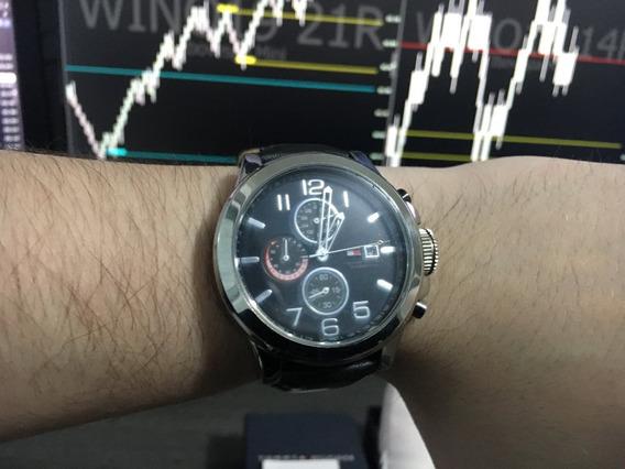 Relógio Tommy Hilfiger Masculino Pulseira Couro - Th.169.14