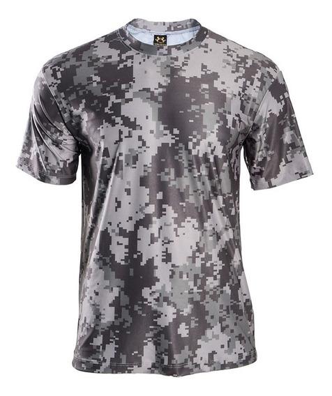 Camisa Masculina Camuflado Estampada Camiseta T-shirt Blusas