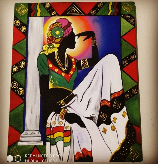 Pintura Africana Óleo Sobre Tela