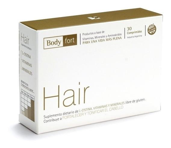 Bodyfort Hair Fortalecedor Y Tonificador Del Cabello X30comp