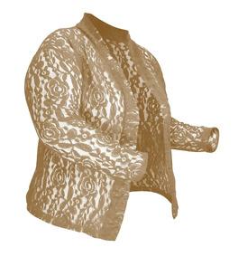 Blusa Casaco Feminino Renda Sem Forro Plus Size A G4 Nº58