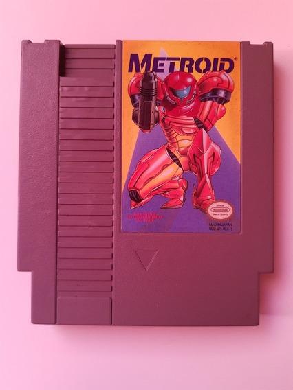 Metroid Original Nes Edição Label Amarelo Funcionando 100%