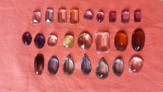Pedras Preciosas Lapidadas. Mistas De Varias Cores.