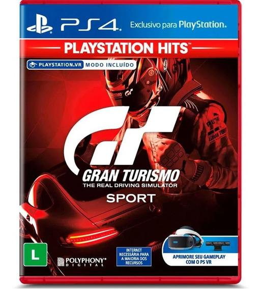 Jogo Gran Turismo Sport Hits Ps4 Mídia Física Lacrado