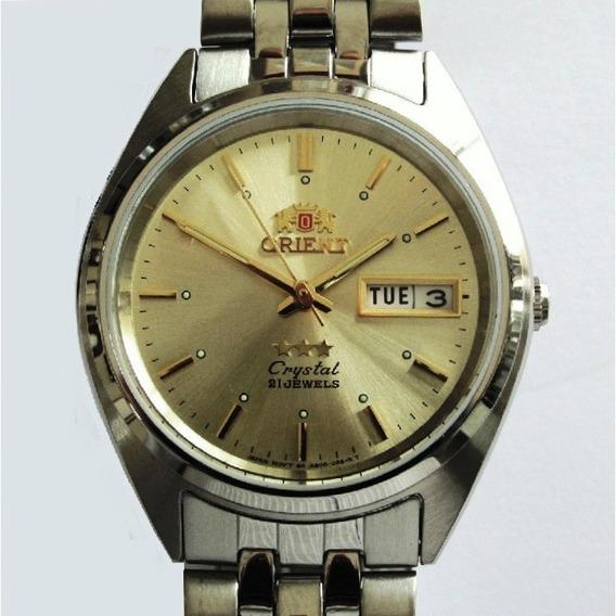 Relógio Orient Automático Modelo Médio De Aço Fab0000ac9