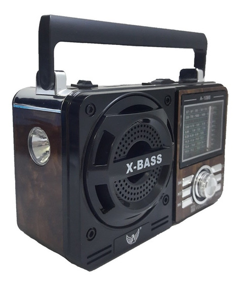 Rádio Portátil Mp3 Usb Cartão Sd Pen Drive Am Fm Sw Retrô