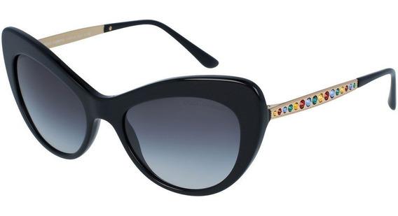 Dolce & Gabbana Dg4307b 501/8g 52 - Preto-dourado/cinza Grad