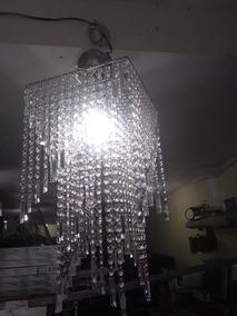 Lustre Inox Cristal Acririco Lampada Led