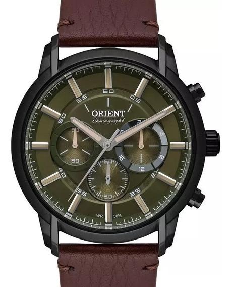 Relógio Orient Masculino Cronografo Couro Mpscc009 F1nx