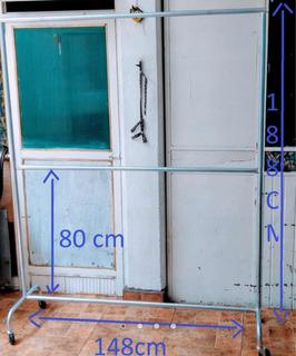 Rack Ropa Viajero Desarmable Doble Closet 1.50 Envío Gratis