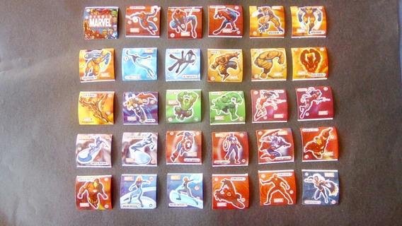 Elma Chips - Coleção Stamp Heróis Marvel Completa 2005