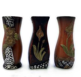 Trio De Mini Vasos Em Cerâmica - Conjunto | Decoração