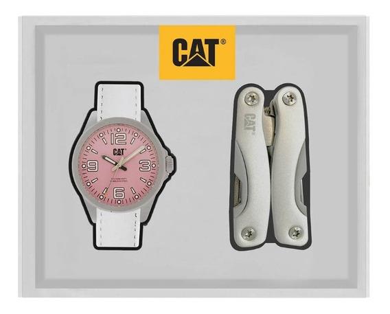 Set De Reloj Para Dama Cat Con Pinzas Multiherramienta
