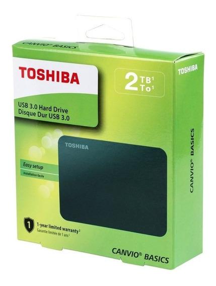 Hd Externo Toshiba Canvio Basics 2tb Preto Hdtb420xk3aa Nfe