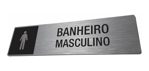 Placa Banheiro Masculino - Identificação Personalizada