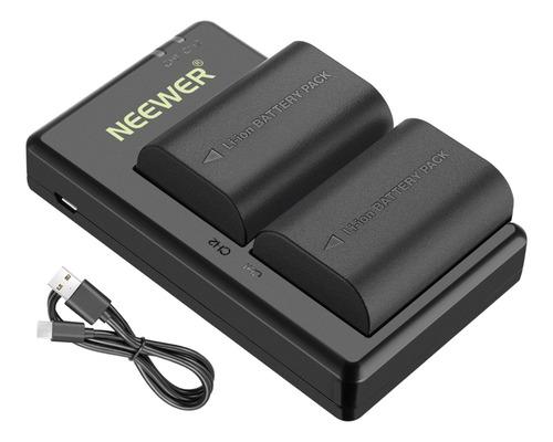 Neewer Lp-e6 Lp-e6n 2pcs Batería Y Cargador Para Canon 5d 6d