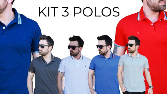 3 Camisetas Polo Wear 100% Original