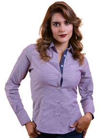 Camisa Porto Blanco Blusa Dama Tinto Jaspeada Casual D-631